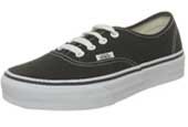 Vans black canvas trainers