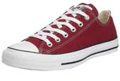 Maroon Converse Ox trainers