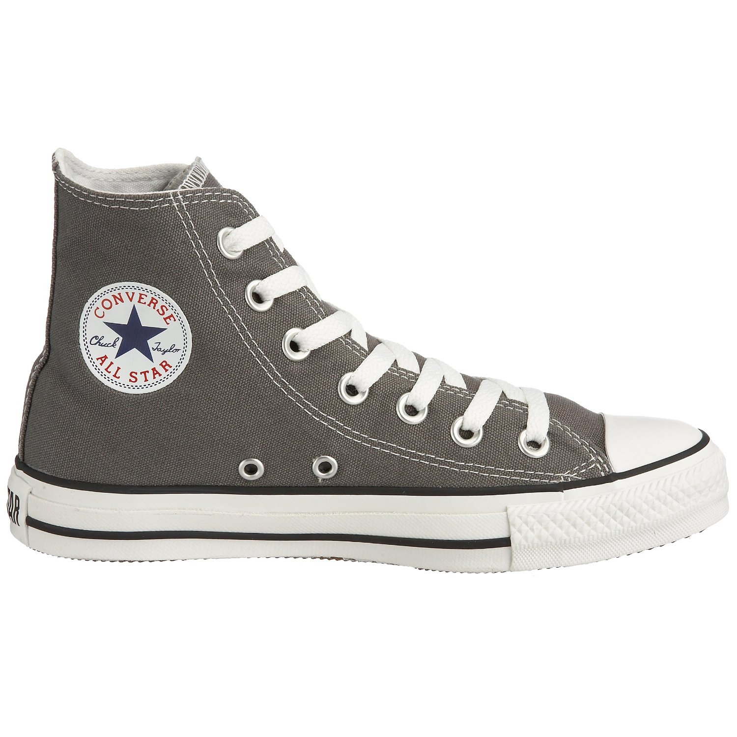 258b295d429a37 Grey Converse All Star Hi Top Shoes - Chuck Taylor Converse Trainers ...