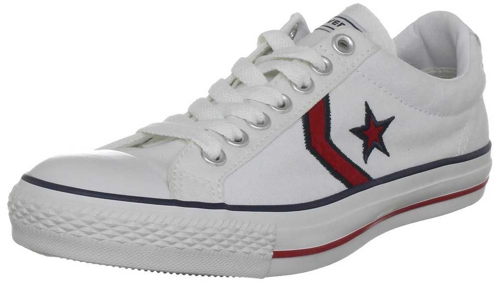 edde4df6d8d1 White Converse All Star Player Shoes - Adult Converse Star Player ...