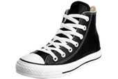 leather black converse hi tops