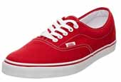 VANS red canvas shoes