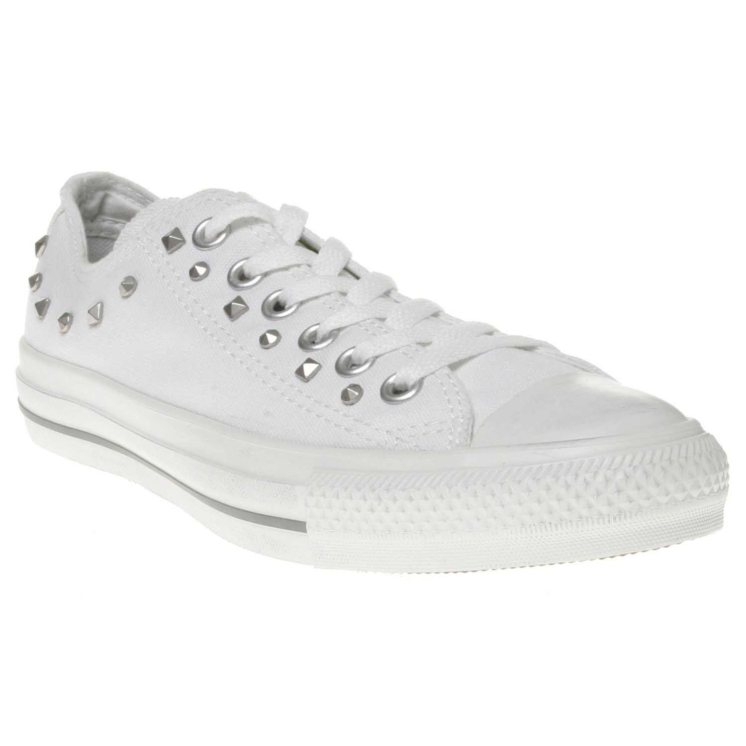 2d9911bc56da White Studded Converse All Star Shoes - Chuck Taylor Trainers with studs